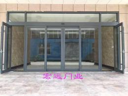 石家庄不锈钢自动门 商场感应门 宏远门业