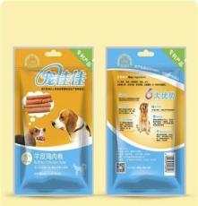 寵佳佳 寵物用品 狗咬膠零食 9-10mm牛皮雞肉卷 16支裝 廠家直銷