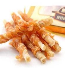 供應批發寵物零食 狗零食雞肉牛皮卷蜂漿著色 適口性更好