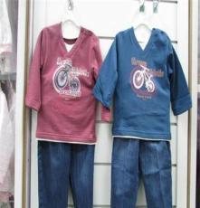 丽婴十八坊全棉婴儿套装 时尚运动肩开套装外出服 L8067