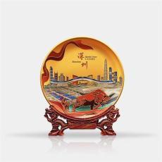 长沙玻璃奖盘纪念盘设计定做纪念盘厂家