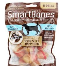 SBPB-00210 美國SmartBones 迷你潔牙骨花生味8支裝 寵物狗零