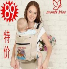 momskiss传统刺绣婴儿背带纯棉初生儿背带/背袋人体工学背带/背巾