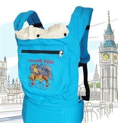 傳統刺繡嬰兒背帶 人體工學純棉嬰兒背帶 育兒背帶/背袋 麒麟送子