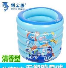 厂家直销环保PVC博士豚婴儿游泳池 宝宝游泳池 送脖圈DD02004