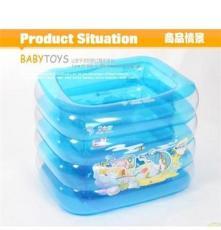厂家直销 博士豚婴儿游泳池 120cm方形水池 送脖圈 DD02012
