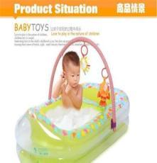 博士豚环PVC充气洗浴盆洗头床 儿童洗澡洗娱池专利产品DD02801