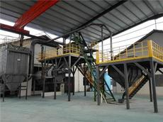 2500kg/h彩砂生產線工藝與設備