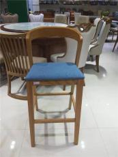 實木加軟包高吧椅