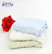 廠家直銷兒童縐紗方巾 全棉純色6層紗布 母嬰用品嬰兒口水巾
