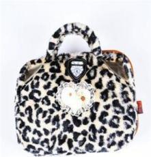 A078手提式豹紋暖手寶 時尚熱水袋立體雙插專利電暖寶 312