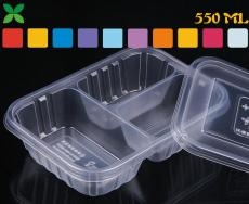 三格精美快餐盒一次性餐盒定制 快歺盒廠家