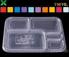 饭盒王五格打包盒一次性餐盒 快餐盒子直销