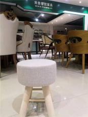 肯麥餐飲家具櫸木餐凳