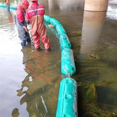 異龍湖漂浮垃圾攔截設施塑料攔漂浮筒