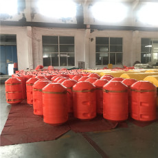 巴英河水浮蓮攔漂裝置塑料攔污浮筒
