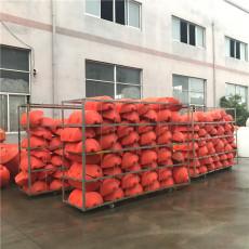 水電站壩前攔漂排浮筒塑料攔污索安裝