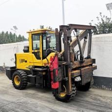 小四輪護欄打樁機廠家直銷高速公路護欄打樁