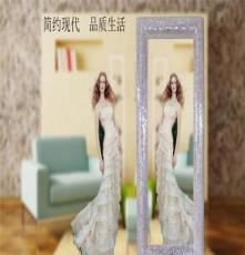 歐式玻璃馬賽克方形壁掛試衣鏡穿衣鏡衛浴鏡