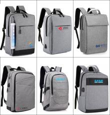 深圳电脑包厂家OEM印字定制双肩电脑包-背包