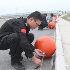 海上警示浮球60公分双耳浮漂规格