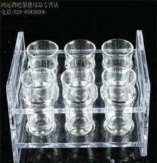 2排6頭圓杯架\烈酒杯架\亞克力杯架\塑料杯架\啤酒杯架\白酒杯架