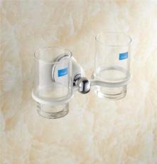 高檔白色烤漆雙杯架 歐式全銅白色壁掛牙刷架 質保價廉 歡迎來購