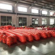 水下垃圾掛網塑料浮筒水電站阻攔帶施工