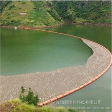 運河攔漂浮物浮筒 塑料攔污排供應