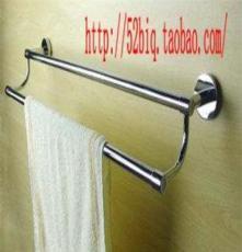 供应巴酷浴室卫生间毛巾架 浴巾架 厨卫置物架 圆管双排挂杆架