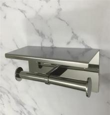 劍雅衛浴新品304不銹鋼廁紙架 工程五金掛件雙體紙架單手紙盒