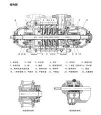 臥式多級泵離心泵100D16-9首葉輪密封環