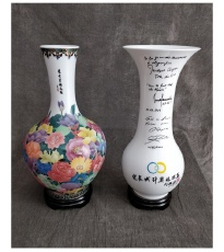 醴陵瓷藝金獎百年萬花賞世界和瓶