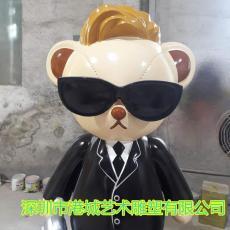 泰迪熊卡通公仔人偶娃娃模型雕塑供应厂家