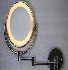 銷售8.5寸雙面化妝鏡 LED帶燈鏡 浴室掛墻鏡 金屬鏡 防霧鏡