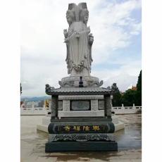 定制兩米高漢白玉石雕觀音像 大型佛像寺廟