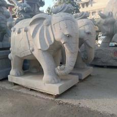 廠家加工制作吉祥如意大象 青石大象