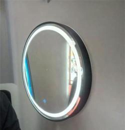 智能防霧浴室鏡 掛墻式不銹鋼鏡箱 除霧帶燈衛生間鏡子