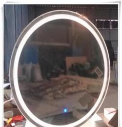 供應酒店賓館衛生間led圓形衛浴鏡 智能帶燈鏡子