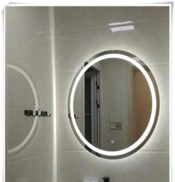 陜西韓城廠家定制 星級酒店賓館衛浴鏡 LED發光鏡子 觸摸智能鏡