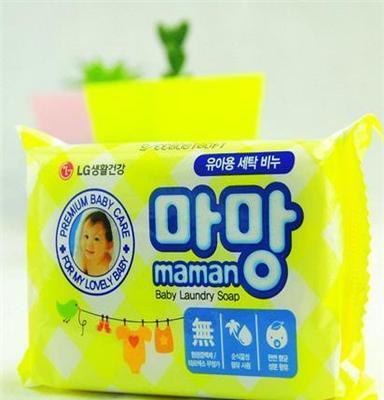 韩国进口正品洗衣皂 儿童洗衣皂maman婴儿去灰洗衣皂薄荷香
