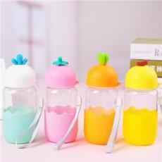 水杯玻璃杯定制logo广告礼品杯韩版玻璃杯