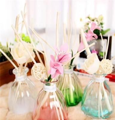 厂家直销 玻璃花瓣瓶无火香薰 室内房间空气清新除臭 摆件4色