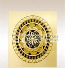 圆形花纹黄铜地漏