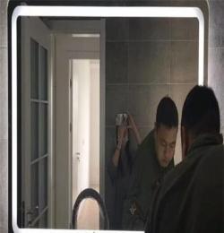 智能led 浴室鏡 防爆防霧衛浴鏡 現代衛生間鏡子帶燈壁掛洗手間