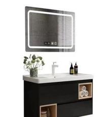 简约欧式方形 无框玻璃led智能浴室镜子 洗手间壁挂卫浴梳妆镜