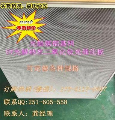 厂家直销 铝蜂窝网光触媒过滤网催化板 除甲醛