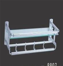 鋁工形玻璃帶勾浴巾架