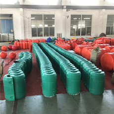 海漂垃圾拦漂浮筒出口电站拦污排厂家