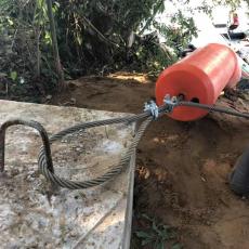 一体式塑料拦污浮筒水上拦垃圾设备